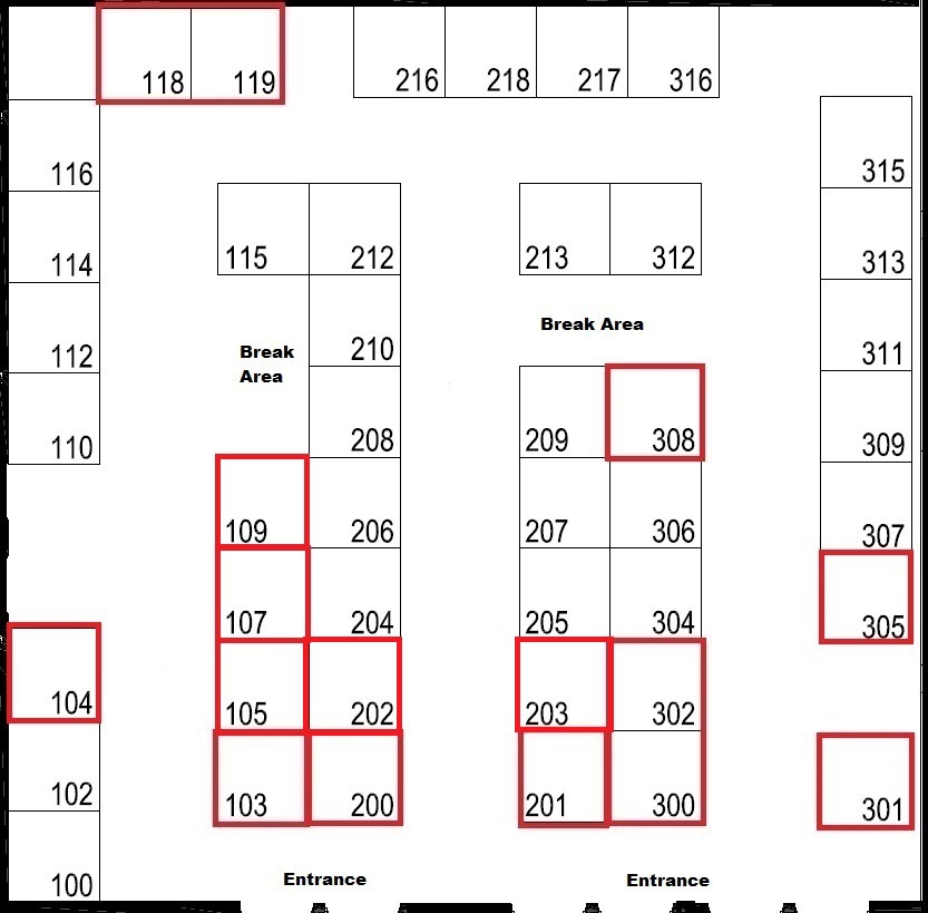 2019 Exhibitor Layout